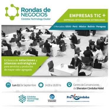 Ronda de Negocios CTC- EMPRESAS TIC + EMPRESAS INTEGRADORAS EXTRANJERAS