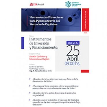 25/04 [INVITACIÓN] Herramientas Financieras para Pymes a través del Mercado de Capitales