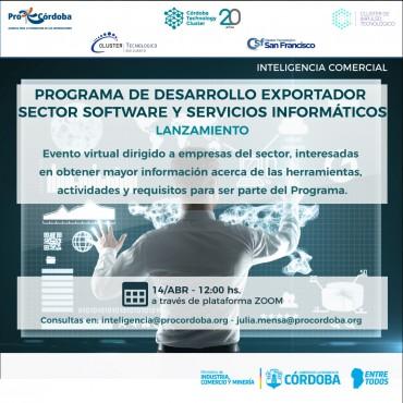 14/04 [INVITACIÓN]: Lanzamiento: Programa de Desarrollo Exportador para el Sector Software y Servicios Informáticos 2021