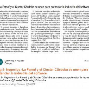 La Famaf y el Cluster Córdoba se unen para potenciar la industria del software