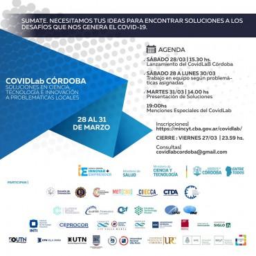 COVIDLab CÓRDOBA Laboratorio de ideas para soluciones locales a problemas relacionados a Covid-19