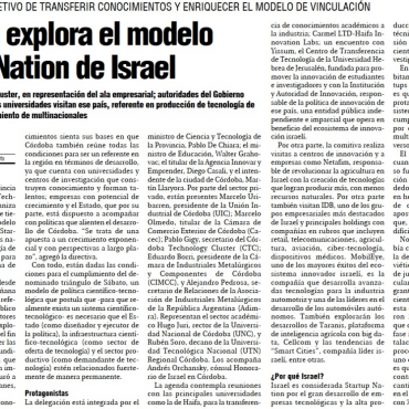 Córdoba explora el modelo Startup Nation de Israel