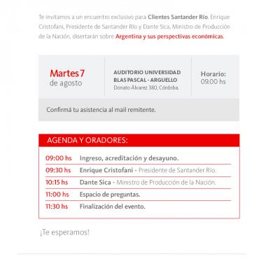 7/8 Charla de Actualidad y Negocios / Santander Río