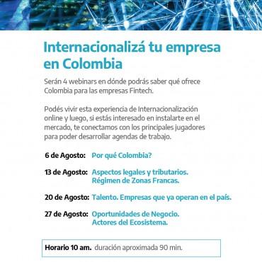 [INVITACIÓN]: 4 Webinars - SOFTLANDING COLOMBIA