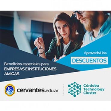 50% OFF en matrícula y 20% en arancel semestral - Convenio CTC + Cervantes