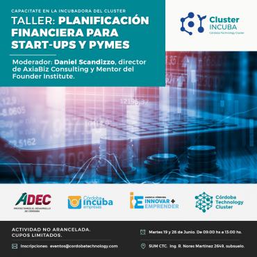 19/06 Taller: Planificación Financiera para Start-Ups y Pymes