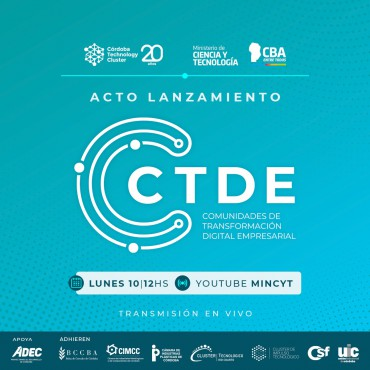 10/05 [INVITACIÓN] Acto Lanzamiento - Comunidades de Transformación Digital Empresarial - CTDE