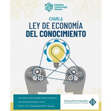 20/11 [INVITACIÓN]: Charla sobre la nueva Ley de Economía del Conocimiento