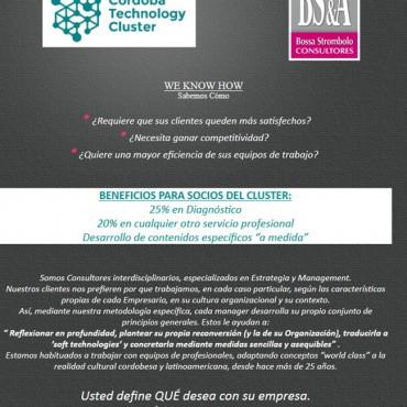 25% en diagnóstico y 20% en servicios profesionales - Convenio Cluster + Bossa Strombolo