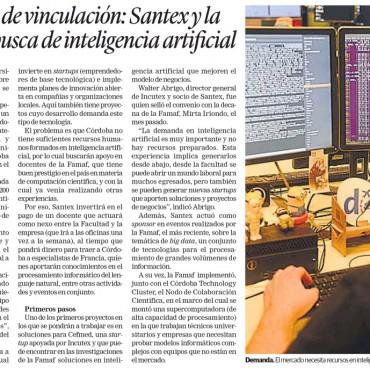 Un ejemplo de vinculación: Santex y la Famaf, en busca la inteligencia artificial.