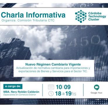[INVITACIÓN] CHARLA: NUEVO RÉGIMEN CAMBIARIO VIGENTE
