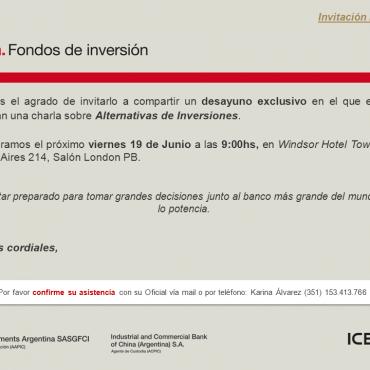 19/06 DESAYUNO: Alternativas de Inversiones - ICBC