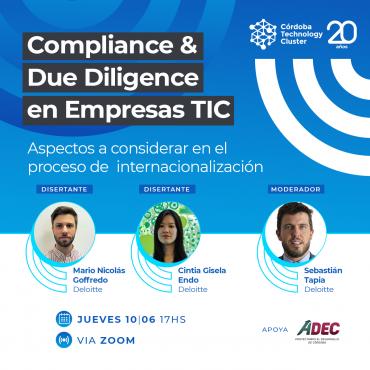 10/06 [INVITACIÓN]: Compliance & Due Diligence