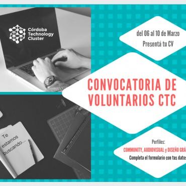¿Querés ser voluntario del Córdoba Technology Cluster? ANOTATE