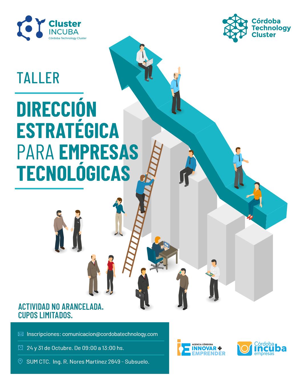 """24/10 [INVITACIÓN]: Taller """"Dirección Estratégica para Empresas Tecnológicas"""""""