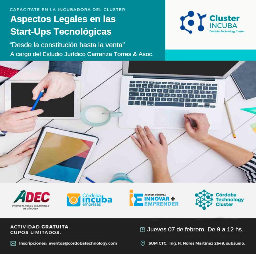 07/02 TALLER Aspectos Legales en las Start-Ups Tecnológicas